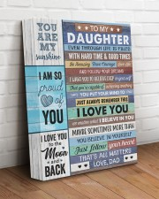 Even Though Life Is Filled Hard Time - To Daughter 11x14 Gallery Wrapped Canvas Prints aos-canvas-pgw-11x14-lifestyle-front-14