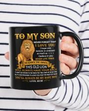 Never Forget That I Love You Mom To Son  Mug ceramic-mug-lifestyle-36