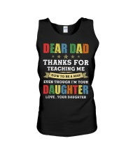 Dad Thanks for teaching me how to be a man Unisex Tank thumbnail