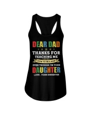 Dad Thanks for teaching me how to be a man Ladies Flowy Tank thumbnail