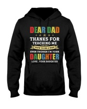 Dad Thanks for teaching me how to be a man Hooded Sweatshirt thumbnail