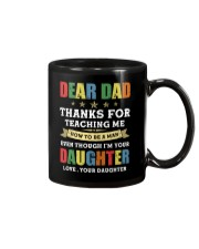 Dad Thanks for teaching me how to be a man Mug thumbnail