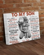 When Life's Troubles Try To Scare U Dad To Son 14x11 Gallery Wrapped Canvas Prints aos-canvas-pgw-14x11-lifestyle-front-09