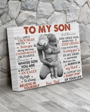 When Life's Troubles Try To Scare U Dad To Son 14x11 Gallery Wrapped Canvas Prints aos-canvas-pgw-14x11-lifestyle-front-13