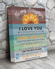 Never Forget That I Love You Dad To Daughter 11x14 Gallery Wrapped Canvas Prints aos-canvas-pgw-11x14-lifestyle-front-13