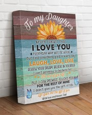 Never Forget That I Love You Dad To Daughter 11x14 Gallery Wrapped Canvas Prints aos-canvas-pgw-11x14-lifestyle-front-14