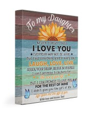 Never Forget That I Love You Dad To Daughter 11x14 Gallery Wrapped Canvas Prints front