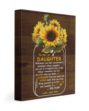 U Are Braver Than U Think Dad To Daughter 11x14 Gallery Wrapped Canvas Prints front