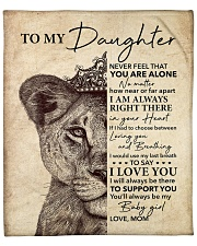 "Lion-Never Feel That U Are Alone - Mom-To-Daughter Fleece Blanket - 50"" x 60"" front"