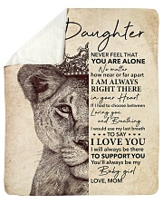 "Lion-Never Feel That U Are Alone - Mom-To-Daughter Sherpa Fleece Blanket - 50"" x 60"" thumbnail"