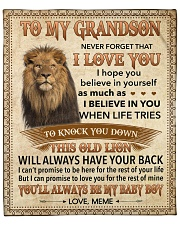 """Never Forget That I Love You-Young Lion GM to GS Fleece Blanket - 50"""" x 60"""" front"""