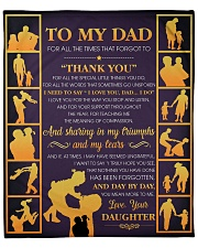 """Dad Thanks For All The Special Little Things U Do Fleece Blanket - 50"""" x 60"""" front"""