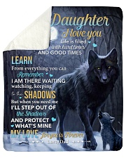 """Life Is Filled With Hardtimes-Wolf Dad To Daughter Sherpa Fleece Blanket - 50"""" x 60"""" thumbnail"""