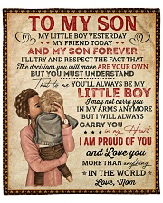 "My Little Boy Yesterday Mom To Son Fleece Blanket - 50"" x 60"" front"