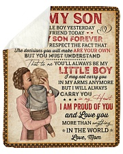 "My Little Boy Yesterday Mom To Son Sherpa Fleece Blanket - 50"" x 60"" thumbnail"