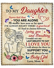 """Daughter I Would Use My Last Breath To Say ILove U Fleece Blanket - 50"""" x 60"""" front"""