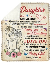 Daughter I Would Use My Last Breath To Say ILove U Sherpa Fleece Blanket tile