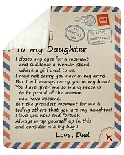 I closed my eyss for a moment Dad-To-Daughter Sherpa Fleece Blanket tile