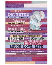 Today Is A Good Day - Elephant Dad To Daughter Vertical Poster tile