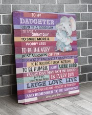 Today Is A Good Day - Elephant Dad To Daughter 11x14 Gallery Wrapped Canvas Prints aos-canvas-pgw-11x14-lifestyle-front-12