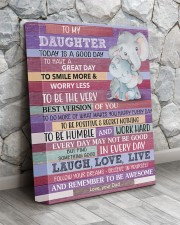 Today Is A Good Day - Elephant Dad To Daughter 11x14 Gallery Wrapped Canvas Prints aos-canvas-pgw-11x14-lifestyle-front-13