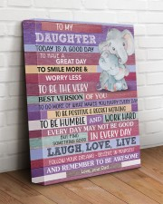 Today Is A Good Day - Elephant Dad To Daughter 11x14 Gallery Wrapped Canvas Prints aos-canvas-pgw-11x14-lifestyle-front-14