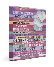 Today Is A Good Day - Elephant Dad To Daughter 11x14 Gallery Wrapped Canvas Prints front