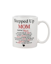 Stepped Up Mom personalized Name Mug front