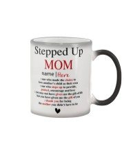 Stepped Up Mom personalized Name Color Changing Mug thumbnail