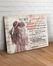 U Are Braver Stronger Smarter Mom To Daughter 14x11 Gallery Wrapped Canvas Prints aos-canvas-pgw-14x11-lifestyle-front-14