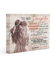 U Are Braver Stronger Smarter Mom To Daughter 14x11 Gallery Wrapped Canvas Prints front