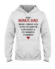 Dear Bonus Dad Hooded Sweatshirt thumbnail