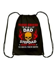Tough Enough To Be Dad And Stepdad Drawstring Bag thumbnail