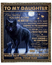 Never Feel That U Are Alone Wolf Dad To Daughter Fleece Blanket tile