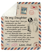 Never Forget That I Love You Dad-To-Daughter Sherpa Fleece Blanket tile