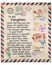 "Never Feel That U Are Alone Mom To Daughter Fleece Blanket - 50"" x 60"" front"