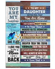 Never Feel That You Are Alone Dad To Daughter Vertical Poster tile