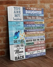 Never Feel That You Are Alone Dad To Daughter 11x14 Gallery Wrapped Canvas Prints aos-canvas-pgw-11x14-lifestyle-front-09
