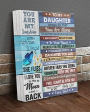 Never Feel That You Are Alone Dad To Daughter 11x14 Gallery Wrapped Canvas Prints aos-canvas-pgw-11x14-lifestyle-front-10