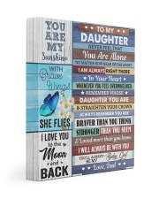 Never Feel That You Are Alone Dad To Daughter 11x14 Gallery Wrapped Canvas Prints front