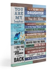 Never Feel That You Are Alone Dad To Daughter Gallery Wrapped Canvas Prints tile