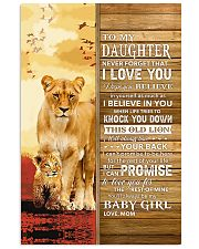 Lion- Never Forget That I Love You Mom-To-Daughter 11x17 Poster thumbnail