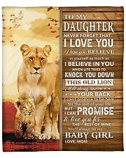 """Lion- Never Forget That I Love You Mom-To-Daughter Fleece Blanket - 50"""" x 60"""" thumbnail"""