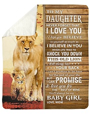 """Lion- Never Forget That I Love You Mom-To-Daughter Sherpa Fleece Blanket - 50"""" x 60"""" thumbnail"""