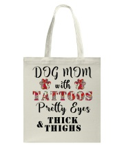 Dog Mom With Tattoos Tote Bag thumbnail
