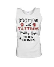 Dog Mom With Tattoos Unisex Tank thumbnail