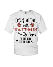 Dog Mom With Tattoos Youth T-Shirt thumbnail