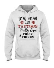 Dog Mom With Tattoos Hooded Sweatshirt thumbnail