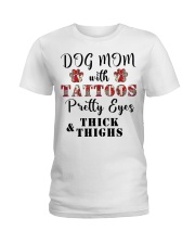 Dog Mom With Tattoos Ladies T-Shirt front