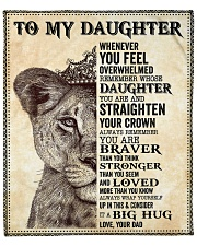 "Daughter Lion Remember Straighten Your Crown Fleece Blanket - 50"" x 60"" front"
